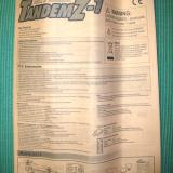 A rolled up instruction manual comes in the box with a spare front plastic vane.