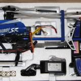 The SR helicopter, its transmitter, charger, adapter, battery, transmitter batteries and hardware were packed in the foam tray.