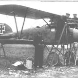 Ace Earnst Udet with his Albatros