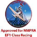 The Proud Bird with proper motor, battery, ESC and propeller is NMPRA approved for EF1 competition