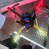 My quadcopter has the T-plug power tap adaptor to JST connector for powering the lights.