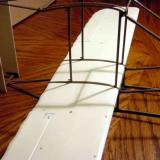 The second step is sliding the wing into the fuselage.