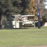 Maintaining level flight is easy with this Wright Flyer.