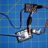 One servo connected to receiver and FDR with Y harness.