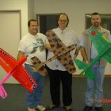 Pilots holding Ast. GWS 3D prototypes