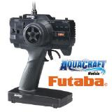 This is a high quality Futaba transmitter with adjustable trims for throttle and rudder and more.