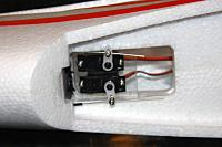 Elevator and rudder servos came mounted in the fuselage.