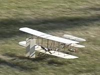 Just before landing.