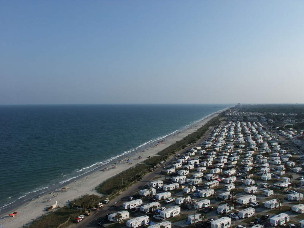 Looking south towards Murrell's Inlet.  As you can see, our view is dominated by the campground next door.