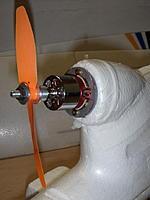 Name: P3261478a.jpg Views: 146 Size: 67.7 KB Description: Bixler stock motor mounted