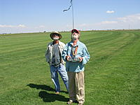Name: Dan Tandberg timing and Phillip Brister at the controls.jpg