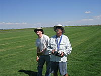 Name: Matthew Aurand timing and Richard Dick flying.jpg