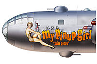 Name: B-29 Humpin' Honey nose art with Pat's head copy.jpg