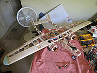 Name: P-61 build showing start of covering and electronic.jpg