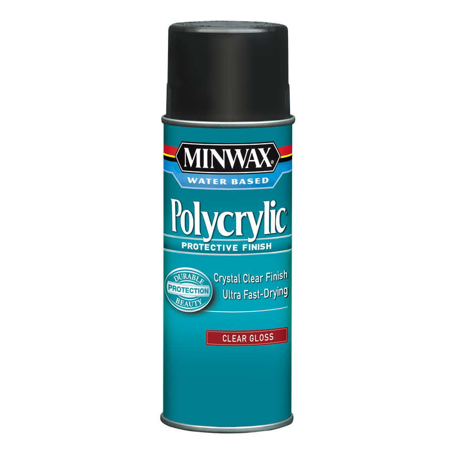 Minwax Polycrylic Protective Finish in Aerosol form.
