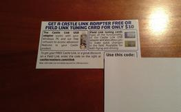 Castle Creations Free Field Link Adapter OR $10 Tuning Card Coupon USB ESC
