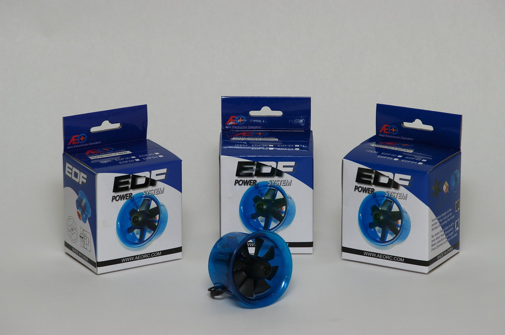 AEORC 40mm, 45mm and 50mm EDFs with brushless outrunners