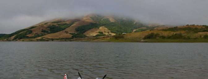Docked on the shores of the reservoir on a foggy Marin morning.