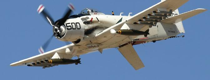 How can you NOT be excited to build this kit, when you see what an awesome airplane the Skyraider is?