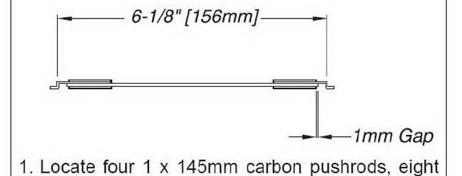 Update on the required lengths for the aileron link rods.