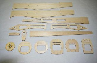 All of the fuselage pieces laid out and ready for assembly.