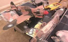 "FMS P-40 57"" scale retracts plus spare 2nd plane"