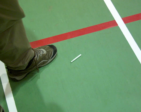 Iit is hard to tell which is more dangerous, the torpedo or the Mark Denham's untied shoe laces :)