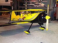 Name: Peaks with clear coat yellow spinner and wooden prop.jpg
