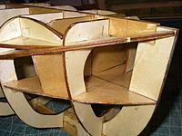 Name: IMGP5190.jpg Views: 60 Size: 337.5 KB Description: Finishing resin applied to the  basic frame before I start planking the hull.