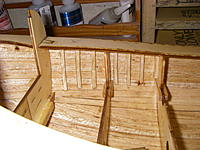 """Name: IMGP5193.jpg Views: 53 Size: 468.0 KB Description: Intermediate frames made from 1/8"""" square balsa stock, and installed between frames 6, 7, & 8."""
