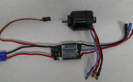 Parkzone WildCat  480 motor with ESC