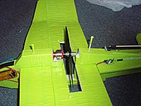 Name: pin.jpg Views: 28 Size: 200.3 KB Description: The tape on the pins mark the depth, aft pin is pulled up a little.
