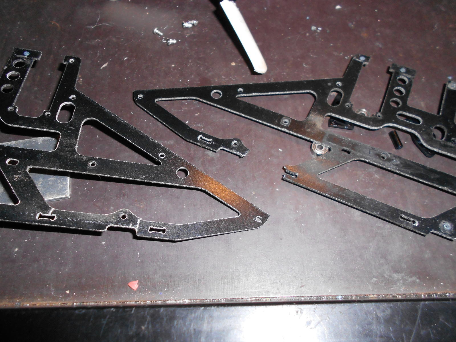 The old broken frame pieces.