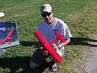 Name: DSCF5721.jpg Views: 235 Size: 322.3 KB Description: A very impressed Justwingit fondling the new Ares Taylorcraft 130!