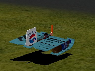 The PEPSI bottle hydro plane.