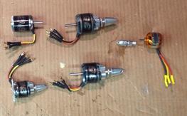 5 motors. NTM. Turnigy.