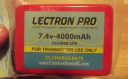 Lectron Pro Spektrum DX7S DX8 DX9 TX 7.4v 4000Mah Lipo Battery #2S4000-LTX