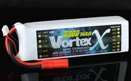 VortexX 3300mAh 5S 35C Max 70C 18.5V  Nano Tech Lipos x 2