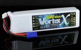 VortexX 4500mAh 6S 25C Max 50C 22.2V EC5 Nano Tech LIPO x 2