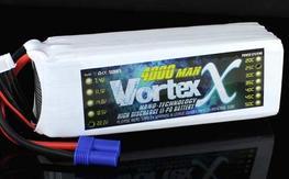 VortexX 4000mAh 6S 25C Max 50C 22.2V EC5 Nano Tech LIPO