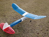 Name: Kerswap150 2.JPG Views: 5 Size: 465.6 KB Description: 150% Kerswap, wing span 63 inches, wing area 648 sq.in. RTF weight 34 oz (with 3S1000 lipo), wing loading 7.5 oz/sq.ft.
