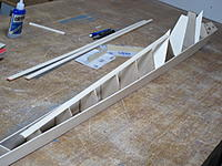 Name: 12.JPG Views: 15 Size: 360.5 KB Description: 12. Top spine of the upper rear fuselage glued in place across the tops of the formers. Edges sanded to align with the outside top edges of the fuselage base sides.