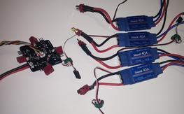 Four 40A SimonK ESC with 3DR power distr. board