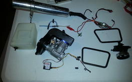 OS 50 SX and associated parts for TRex 600