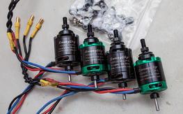 4x Sunnysky x2216-9 1100kv Motors