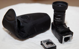 Photography stuff: Extension tubes, Kenko 1.4x TC, Canon Angle Finder C