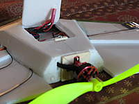 Name: oswv2 019.jpg Views: 1630 Size: 84.5 KB Description: view of firewall and motor mount. The two firewall supports go into aft end fuse before gluing it to main wing.  Or, as I did, don't fold the aft firewall, but cut off, glue it an the other two in together.