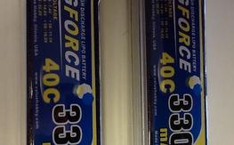 Pair of GForce 40c 3300mah 4s lipos