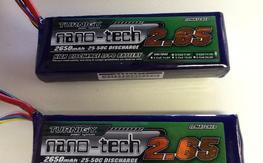 Pair of Turnigy Nano-tech 3S 25-50c Lipo Batteries
