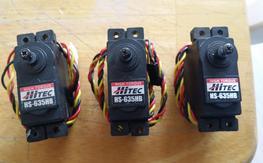 3 Hitec HS-635HB Karbonite Gear High Torque Servo